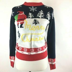 Tipsy Elves Merry Christmas Santa Pullover Sweater